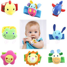 1PC Baby Infant Kid Handbell Animal Wrist Rattle Bell Musical Education Toy