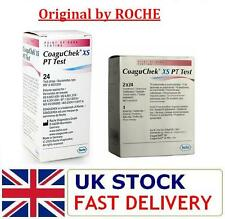 ORIGINAL CoaguChek XS PT Test Strips- 24 or 48 Strips- ROCHE Coagucheck Strips