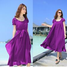 women lady chiffon billowy Summer Beach Evening Cocktail Party Plus Size Dress