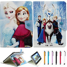 """Disney Frozen Cartoon Folio Leather Case Cover for 9.7 10 10.1"""" inch Tablet PC"""