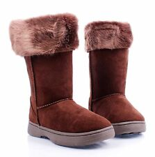 4 Color Cute Simple Kids Shoes Girls Youth Faux Fur Interior Winter Boots
