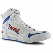 Lonsdale Storm Boxing Boots Mens White/Blue/Red Fitness Gym Trainers Sneakers