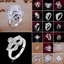 Women's Fashion Jewelry S925 Sterling silver SP Ring  US size 8