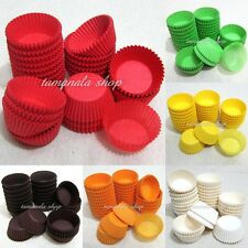 "NEW Dia 1.5"" 600pcs Muffin Cupcake Baking Cups Cases Paper Liners Cake 6 Colors"