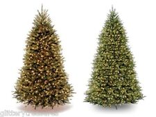 HOLIDAY TIME Pre-Lit Dunhill Fir 9' & 12' Artificial Christmas Tree with Stand