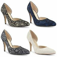 New Ladies Womens Pointed High Heel Evening Party Court Shoes Pumps Size UK 3-8