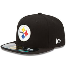 Pittsburgh Steelers New Era 5950 Fitted Hat Authentic On Field 59Fifty Cap Black