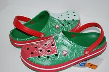 NEW NWT CROCS CROCBAND MEXICO 4 5 6 7 8 9 10 11 12 CLOGS shoes GREEN RED