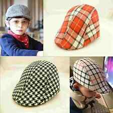 1Pcs Children Kids  Baby Toddler Cap Plaid Berets Fashion Casual Show Cool Hats