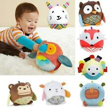 HOUS Cute Animal Ball shaped Stuffed Soft Toy Doll Rattle Gift Baby Kids age 1-5