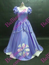 Disney Dress Sofia Purple Costume adult SIZE 6,8,10,12,14,16 white pearl detail