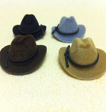 Choice of Four Different Coloured Cowboy Hats Dolls House Miniature 1:12 Scale