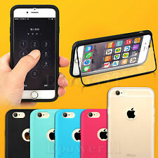 For Apple iPhone 5s 6 Plus TPU Wrap Up Case Cover with Built In Screen Protector
