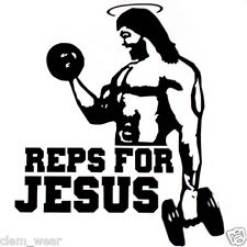 REPS FOR JESUS **SALE** weight training lifting body building vest T SHIRT tank