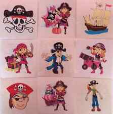 Pirate Girls & Boys Childrens Temporary Tattoos Party Loot Bag Pinata Fillers