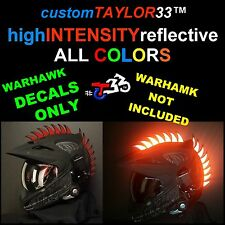 Reflective DECALS For Mohawks Helmets Warhawk Saw Dirtbike Motorcross Motorcycle