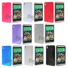 For HTC Desire 816 Dual Sim TPU Silicone Gel Skin Case Cover + Screen Protector
