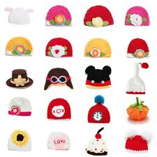 Baby Winter Warm Kid Boy Girl Infant Wool Crochet Knit Beanie Hat Photo Prop Cap
