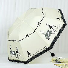 Creative Korean piano beautiful princess umbrella folding umbrella T171