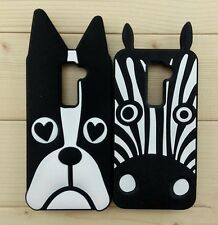 3D Zebra Dog Design Cartoon Silicone Gel Rubber Soft Back Case Cover For LG G2