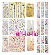Nail Art Decals Stickers Water Transfer Flower Kitty Lace Princess Tips #HOT