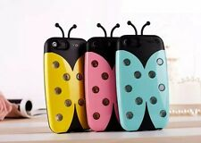 Fashion Sense Flash LED Light Color Changing Ladybug Case Cover for iPhone 5 5s