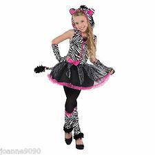 NEW GIRLS SASSY STRIPES ZEBRA TUTU HALLOWEEN BOOK DAY FANCY DRESS COSTUME OUTFIT