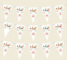 "HANDMADE CHRISTMAS BUNTING/GARLAND/BANNER - ""SAT IN A ROW"" - DECORATION"