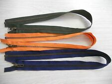 BULK 50 BRASS SEPARATING ZIPPERS USA green orange blue 24.99 FREE SHIP