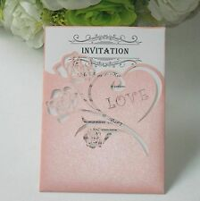 50 Sets Luxury Roses Laser cut Wedding Invitation Cards + Inner sheet + Envelope