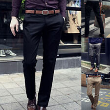 Fashion Men's Stylish Designed Slim Fit Suit Gentleman Style Long Pants Trousers