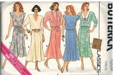 3591 UNCUT Butterick SEWING Pattern Misses Very Loose Fitting Blouse Asymetrical