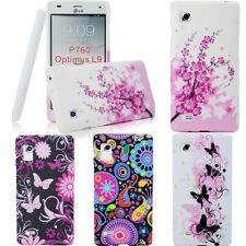 Flower TPU Rubber Patterned Case Cover Accessory For LG Optimus L9 P760 P765
