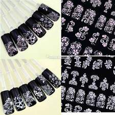 108pcs 3D DIY Flower Design Nail Art Stickers Flower Manicure Tips Decals