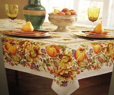 """Harvest Bounty Fall Table Cloth 60"""" x 84"""" OR 104"""" Harvest Autumn Thanksgiving"""