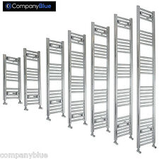 300 mm Wide Bathroom Heated Towel Rail Radiator Ladder Chrome Straight Flat