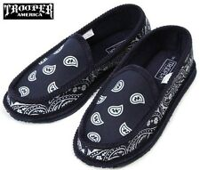 NAVY BANDANA SLIPPERS HOUSE SHOES TROOPER AMERICA CHICANO RAP BLUE