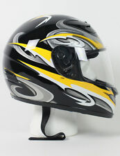 RZ80RG - DOT Full Face Yellow Graphic Motorcycle FULL FACE Helmet