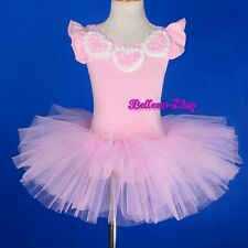 Girl Pink Ballet Tutu Dance Costume Performance Fairy Dress Up Size 2T-8 BA047