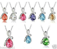 Wholesale !Eternal Love Teardrop Swarovski Elements Crystal Pendant Necklace