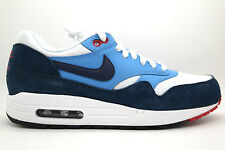 [537383-119] NIKE AIR MAX 1 ESSENTIAL MENS SHOES WHITE/MIDNIGHT NAVY/UNIVERSITY