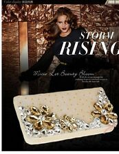 2014 Top Fashion Crystal Luxury Leather Lady Women Long Wallet Card Coin Purse