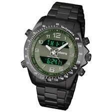 INFANTRY Digital Alarm Mens Sport Quartz Luxury Army Stainless Steel Wrist Watch