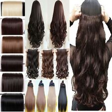 Fashionable New Clip In Hair Extensions One Piece Half Full Head Straight Wavy t