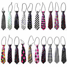 Girls Boys Fashion Elastic Tie Wedding Party Necktie Kids Children 30 Styles