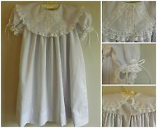 Heirloom Dress in Lavender-White with white french lace by Smocked by LE