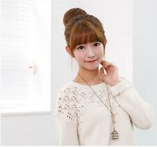 Stylish Pony Tail Women Clip in/on Hair Bun Hairpiece Hair Extension Scrunchie A