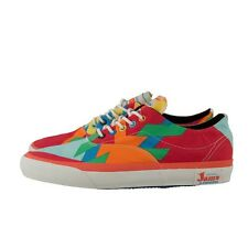 CONVERSE SKIDGRIP JAMS OX 105423 MULTICOLOR ORANGE WHITE SKATE CONS CHUCK TAYLOR