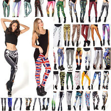 Sexy Womens Digital Graphic Print Stretch Leggings Tights Pantyhose Skinny Pants