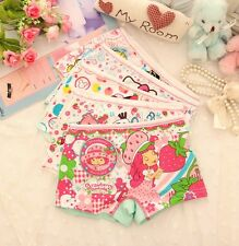 Free Shipping 2014 Cotton Girls Cartoon Panties Baby Underwear Boxer 3-8Y 4/pcs
